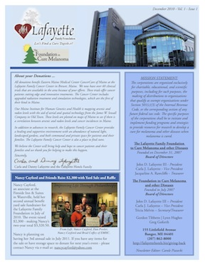 Check out our FIRST newsletter for the Foundations here!