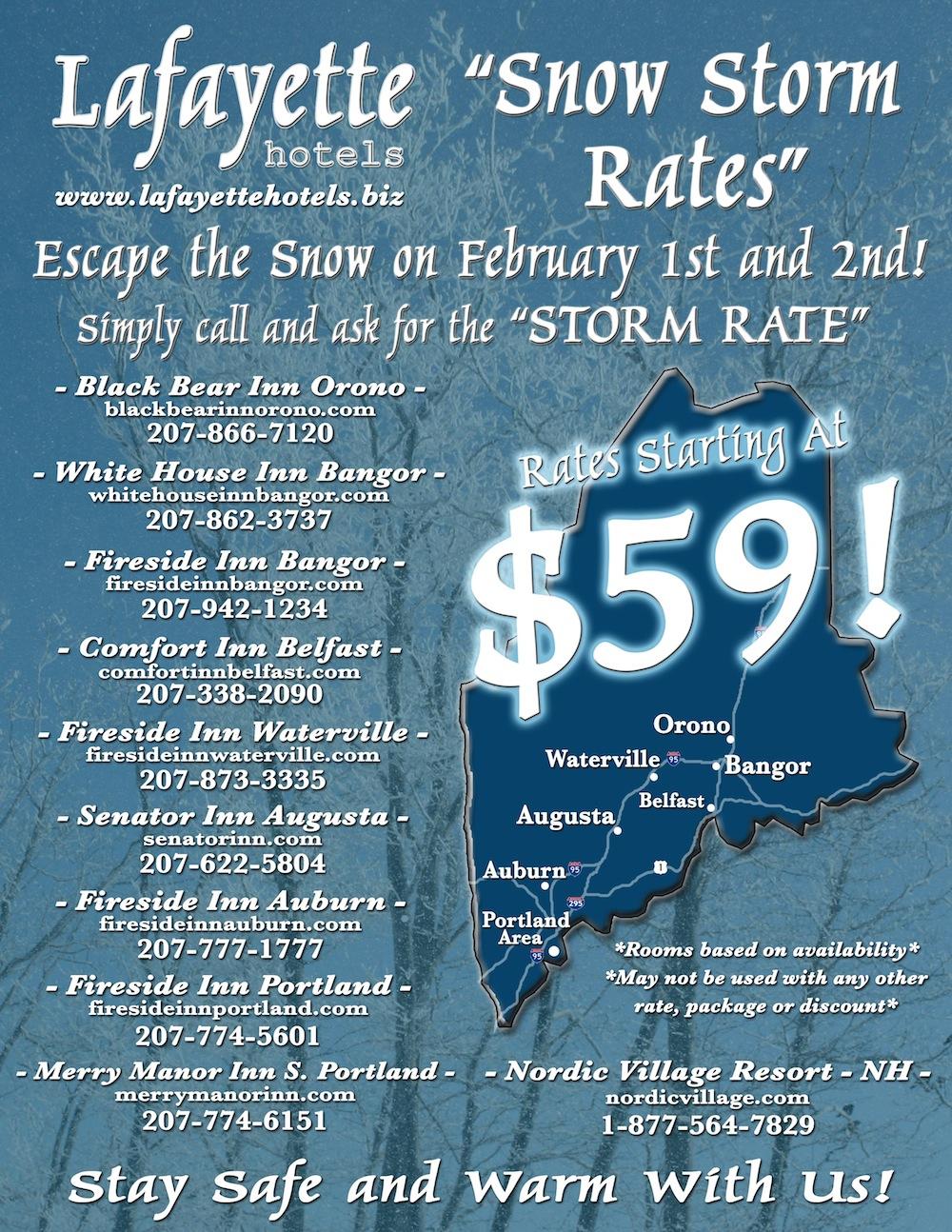 Lafayette Hotels Storm Rates Flyer
